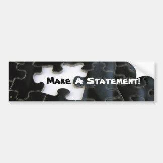 Missing Puzzle Piece Bumper Sticker