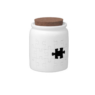 Missing Puzzle Piece Candy Jar