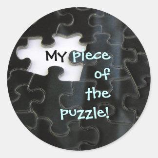 Missing Puzzle Piece Classic Round Sticker