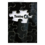 Missing Puzzle Piece Greeting Cards