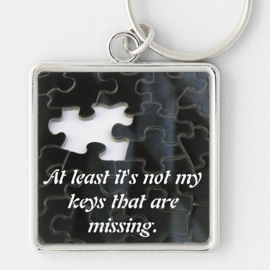 Missing Puzzle Piece Keychain
