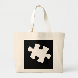 Missing Puzzle Piece Large Tote Bag