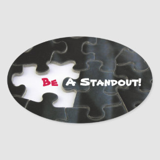 Missing Puzzle Piece Oval Sticker