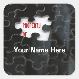Missing Puzzle Piece Square Sticker