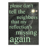 missing reflection greeting card