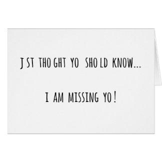 Missing U Card