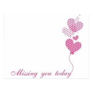 missing u postcard