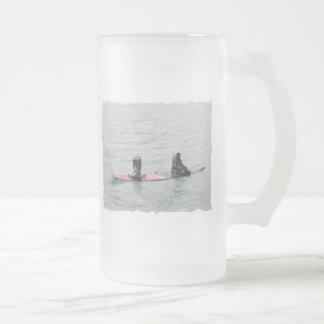 Missing Wakeboarder Frosted Beer Mug
