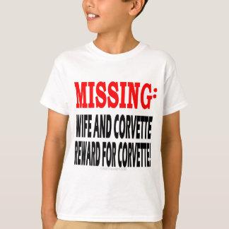 Missing Wife & Corvette Reward for Corvette T-Shirt