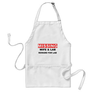 Missing Wife Labrador Adult Apron
