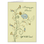 Missing You at Bunco-Get Well Soon Greeting Card