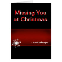 Missing you at Christmas Card