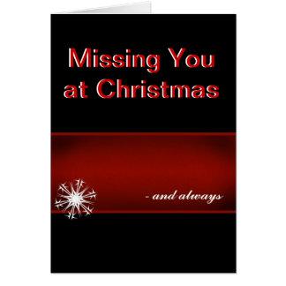 Missing you at Christmas Greeting Card