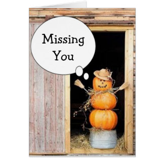 MISSING YOU AT THANKSGIVING AND ALWAYS CARD