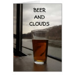MISSING YOU-BEER AND CLOUDS GREETING CARD