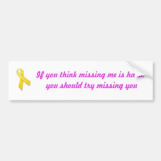 Missing you car bumper sticker