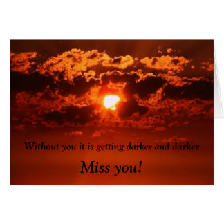 Missing-you-card Card