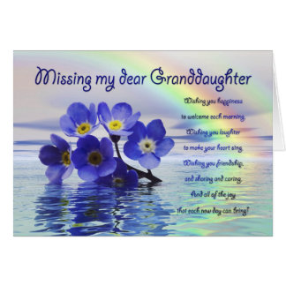 Missing you card for Granddaughter