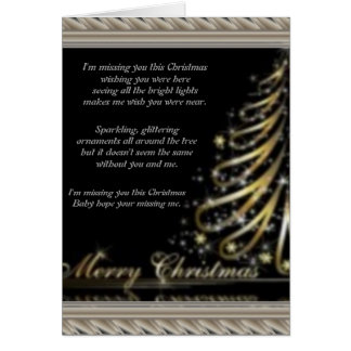 Missing You Christmas Greeting Card