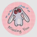 Missing You - Crying Bunny Sticker sticker