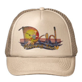 Missing you dad & son fishing thank you hats