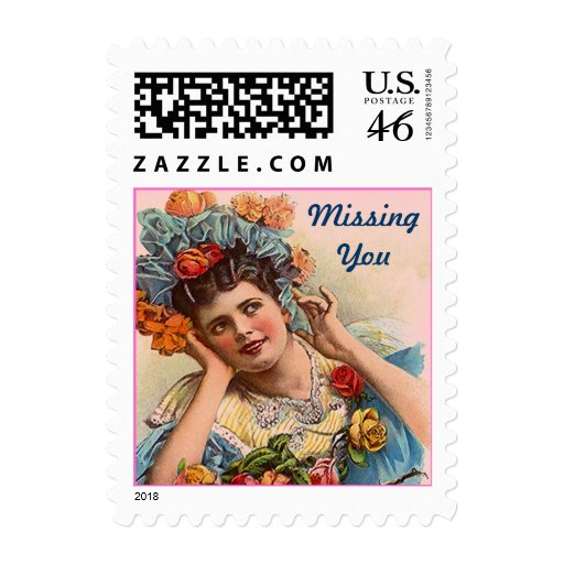 Missing You Daydreams Victorian in roses STAMP