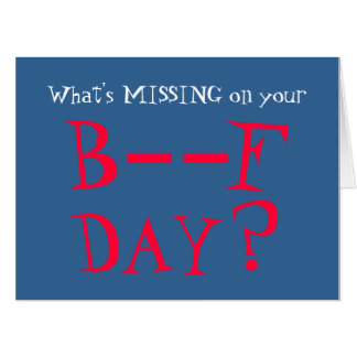 Missing You Funny Burfday From All Giant Birthday Card