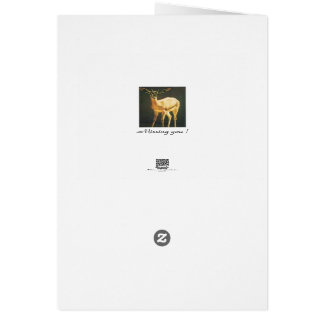 Missing you ! Gazelle - Greeting Card