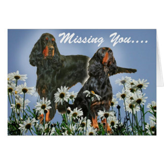 Missing You Gordon Setter Card