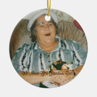 Missing you Grandma Betty Double-Sided Ceramic Round Christmas Ornament