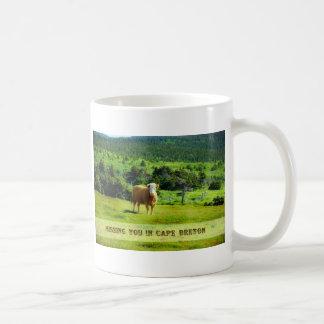 Missing You in Cape Breton Basic White Mug