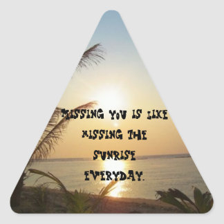 Missing You is Like Missing Tri Sticker