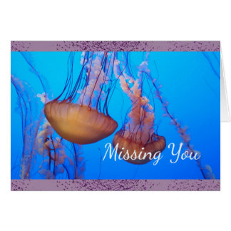 Missing You Jellyfish Note Card
