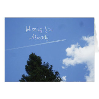 Missing You- Jet  High Up in Bright Blue Sky Card