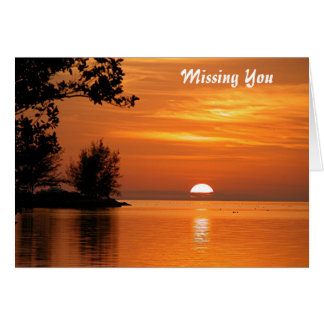 Missing you Ocean sunset Greeting Card