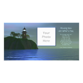 Missing You on Father's Day - Lighthouse Blue Card