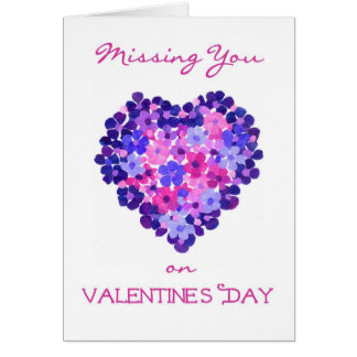 Missing You on Valentine's Day Card - Flower Power
