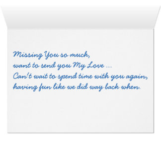 Missing You poem poetry Greeting Card