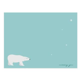 Missing You Polar Bear (1 of 2) Postcard