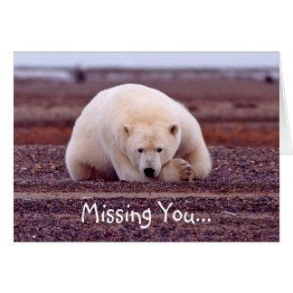 Missing You Polar Bear Card - Customizable