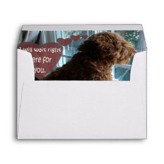 Missing You - Poodle - Envelope