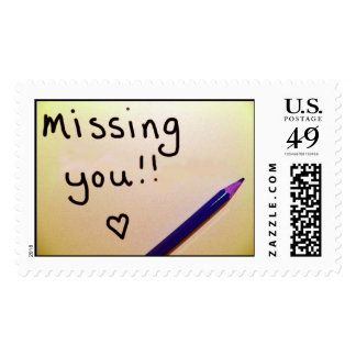 Missing you postage stamp
