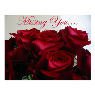 Missing You - postcard