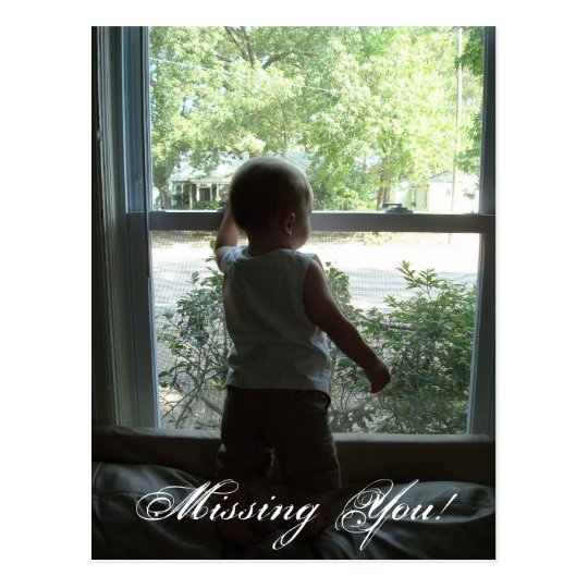 Missing You! Postcard