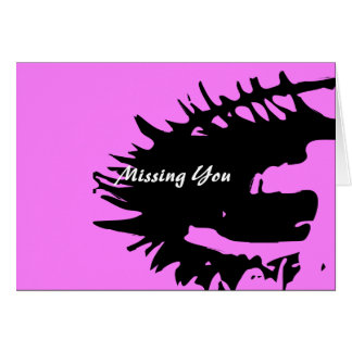 Missing You Postcard Greeting Card