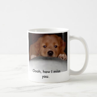 Missing you Puppy Classic White Coffee Mug
