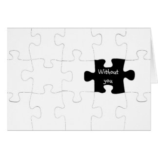 Missing You Puzzle Piece Card