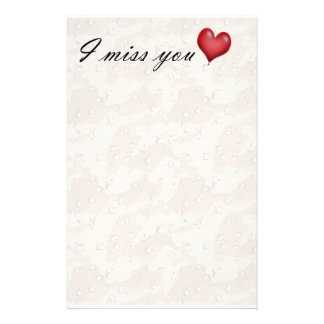 Missing You Stationery