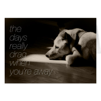 Missing You The Days Really Drag Greeting Card