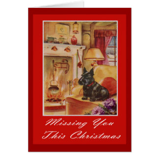 missing you this christmas greeting card